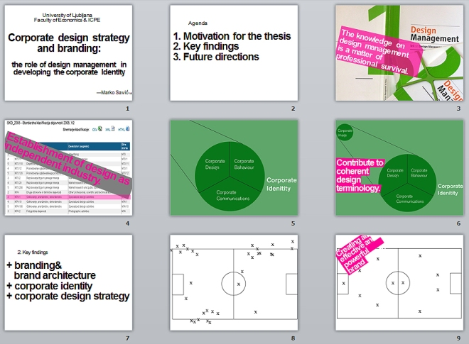 Image of the slides from the Marko Savic's masters thesis.