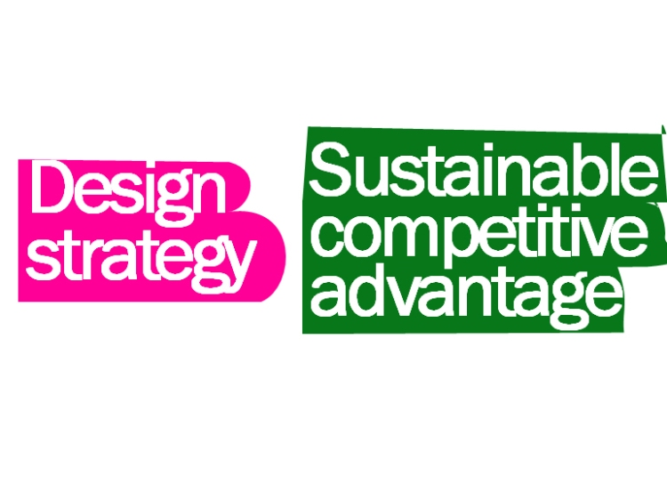 Slide presenting design strategies as a sustainable competitive advantage