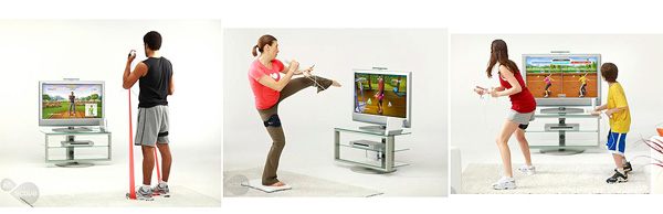 Pictures showing Nintendo Wii players