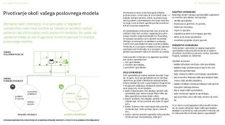 Oblikovanje poslovnih modelov - knjiga - pivotiranje poslovnega modela