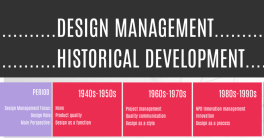 Historical development of design management
